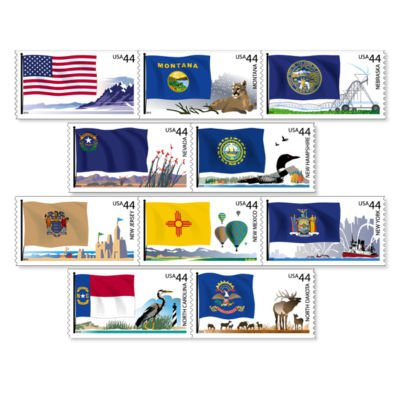 Flags of Our Nation Set # 4 coil of 50 x 44 c us Stamps
