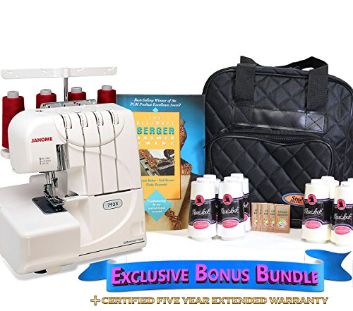 New Janome 7933 Horizon Serger with Exclusive Bonus Bundle