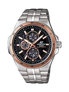 Casio Men's EF340SB-1A5 Edifice Stainless Steel Solar Power Chronograph Sport Watch