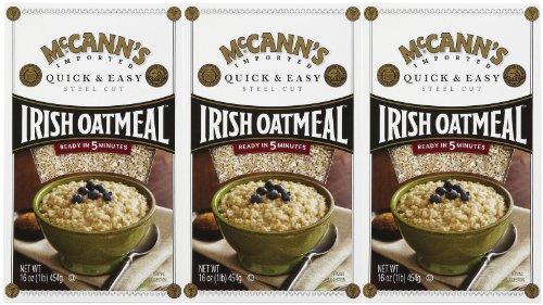 Mccann'S Quick & Easy Steel Cut Oatmeal, 16 Oz, 3 Pk