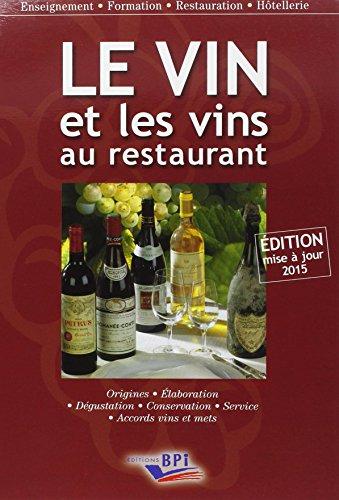 Le Vin et les vins au restaurant – édition 2015
