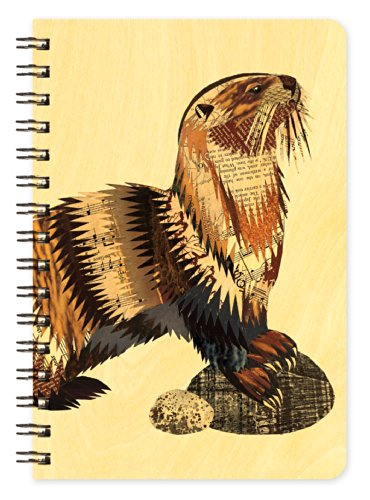Otter Wooden Pocket Notepad by Dolan Geiman and Night Owl Paper Goods