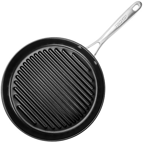 TECHEF - Onyx Collection, 12-Inch Grill Pan, coated with New Teflon Platinum Non-Stick Coating (PFOA Free) (12-inch) (12-Inch)