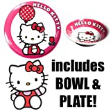 Melamine Bowl & Plate Hello Kitty Combo Set Officially Licensed Sanrio Product