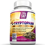 BRI Nutrition L-Tryptophan - 1500mg Servings - 60 Count of L Tryptophan - 500 mg per Veggie Capsules