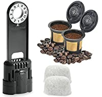 Keurig 1.0 Water Filter Replacement Starter Kit with 2 Gold Mesh Refillable and Reusable K Cup Filters, 1 Water Filter Assembly, and 2 Charcoal Water Filter Cartridges for Single Cup Coffee Makers