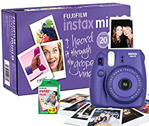 Fujifilm Instax Mini 8 camera with 20 shots -  Purple