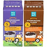 Back To The Roots Organic Non-GMO Cereal Stone Ground Flakes 2 Flavor Variety Bundle: (1) Purple Corn Flakes Cereal...