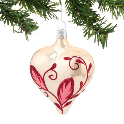 valentine day tree decorations - Winters Frost Nordic Heart Ornament