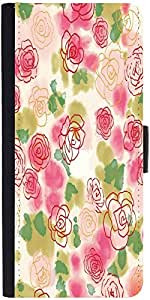 Snoogg Flower Styledesigner Protective Flip Case Cover For Samsung Galaxy Note 4