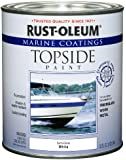 Rust-Oleum 207000 Marine Topside Paint, Semi-Gloss White, 1-Quart