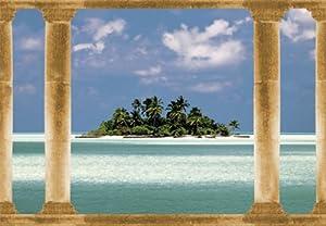 papier peint photo mural ile des palmiers 282 366x254cm 8 parties poster g ant xxl mer. Black Bedroom Furniture Sets. Home Design Ideas