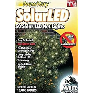 Solar Powered White Net Lighting Set