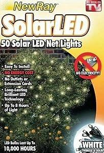 White Net Solar Christmas Lights