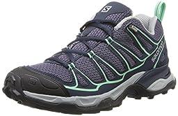 Salomon Women\'s X Ultra Prime Hiking Shoe, Artist Grey/Deep Blue/Lucite Green, 5.5 M US