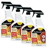 ForceField FireGuard Flame-Retardant Treatment - set of 4 sprays - 22oz each by iDecor [can be safely applied to clothing, fabrics, draperies, furniture, carpets, upholstery, textiles] (Color: Clear)