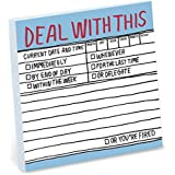 Knock Knock 3 x 3 Inches, 100 Sheets, DEAL WITH THIS Hand-Lettered Sticky Notes