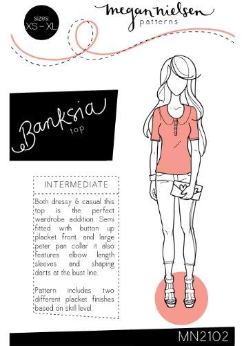 Megan Nielsen Banksia Top Sewing Pattern XS-XL