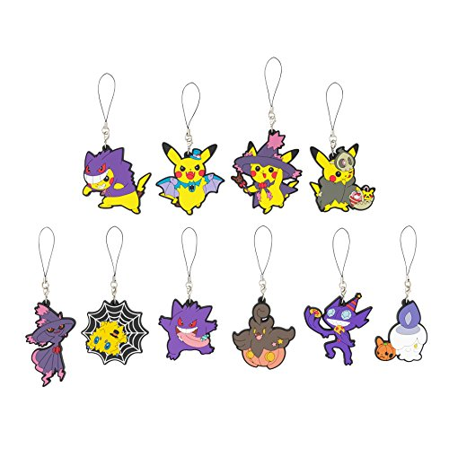 Pokemon Center Original Rubber Strap Collection Halloween Parade 2015 all 10 types set (All Omega Pokemon Cards compare prices)