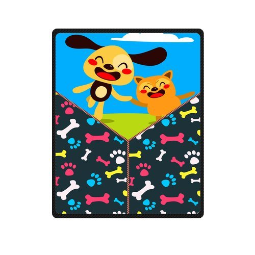 "Personalized Cute Dogs Jigsaw Blanket 40""X 50""(Small) front-861470"