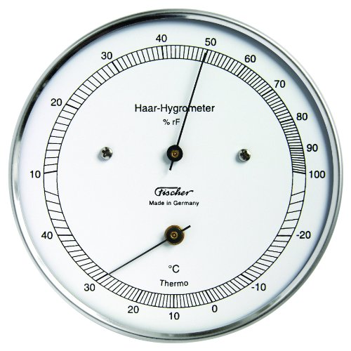 528203 Thermometer mit Hygrometer, silber