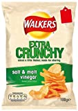 Walkers Extra Crunchy Salt and Malt Vinegar 115 g (Pack of 12)