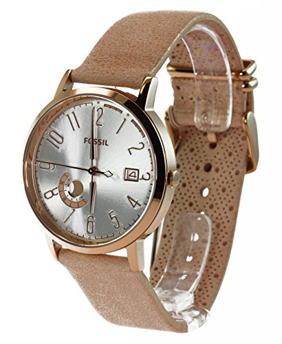Fossil Women's ES3751 Vintage Muse Gold-Tone Stainless Steel Watch with Leather Band 0