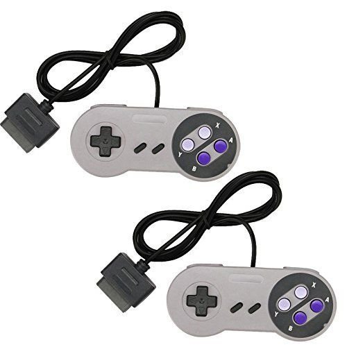 TWO 2 NEW 16 Bit Controller for Super Nintendo SNES System Console Control Pad (Gameboy Color Gameshark compare prices)