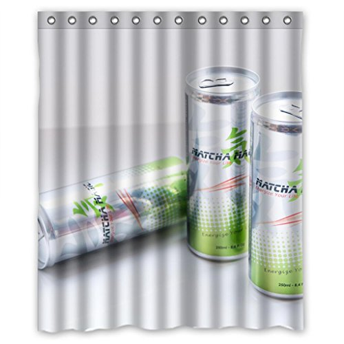 Energy Drinks durable fabric Shower Curtain Measure 60