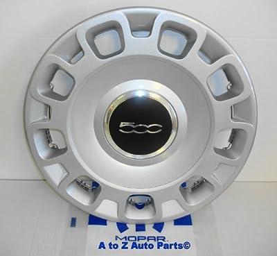 NEW 2012-2014 Fiat 500 15 Inch Steel Wheel Silver Hub Cap, OEM Mopar