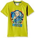 Ninja Hattori Boys' T-Shirt (HST-2126_Green_9 - 10 years)