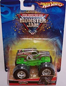 HOT WHEELS MONSTER JAM GRAVE DIGGER SILVER 25TH ANNIVERSARY 2006 RACING CHAMPION #33