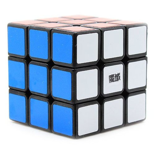 GoodPlay MoYu WeiLong 3x3x3 Speed Cube Puzzle Black(+One customized tripod) - 1