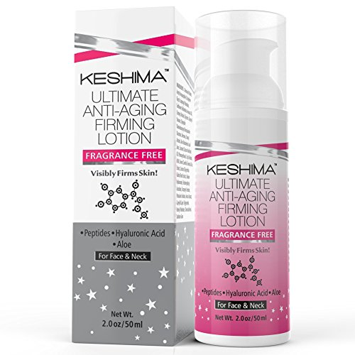 Keshima Face & Neck Firming Cream - Fragrance Free - Tightens Loose and Sagging Skin - Smooths Wrinkles and Fine Lines - 2 Oz. (Creme De La Crepe compare prices)