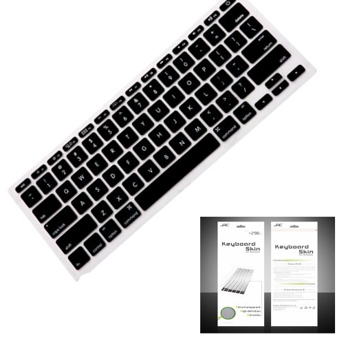"Smart Tech ® Ultra Thin Silicone Keyboard Cover Skin For Apple Macbook Air 11.6""(Model:A1370 And A1465) (Keyboard Cove+Black)"