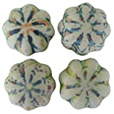 Colorful Antique Look Ceramic Magnets- Set of 4