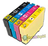 The Ink Squid 1 Set Of T1631/T1632/T1633/T1634 (T1636 'Pen And Crossword' T16 Xl) Very High Capacity Compatible Ink Cartridges For Epson Workforce Wf2010W Printer