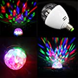 XL-15 Crystal Ball Stage Lights Led E27 RGB Rotating Lamp Fo