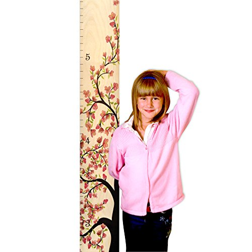 """Flower Blossom Tree of Life Wooden Height Chart - 5.75"""" Wide"""