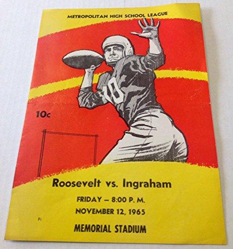 1965 Roosevelt vs. Ingraham Metropolitan High School League Football Program