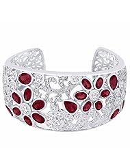 Peora Sterling Silver Cubic Zirconia Cuff Bracelet PB2030