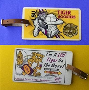 Vintage LSU Luggage Tags