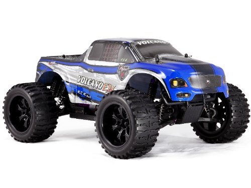 Volcano EPX 1/10 Scale Electric Monster Truck-Black/Blue