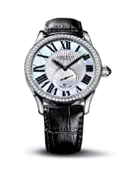 Save Huge On Louis Erard Women's 92310SE01.BAV04 Emotion Automatic Mother of Pearl and Silver Dial Alligater Diamond Watch Deals