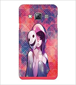 PrintDhaba Mask Girl D-3703 Back Case Cover for SAMSUNG GALAXY A3 (Multi-Coloured)