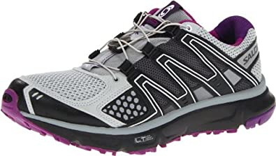 Salomon Women's XR Mission Trail Running Shoe,Light Onix/Black/Anemone Purple,5 M US