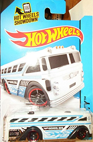 2014 Hotwheels Surf Bus White 3/250