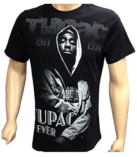 time-is-money-t-shirt-2-pac-pour-hommes-hip-hop-bling-urbain-noir-l