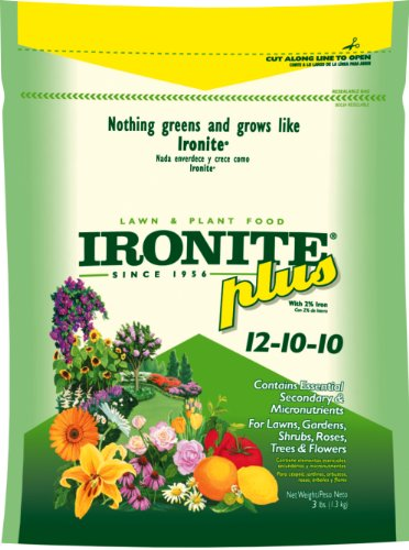 Ironite Plus Lawn and Plant Food 12-10-10  3 lb.