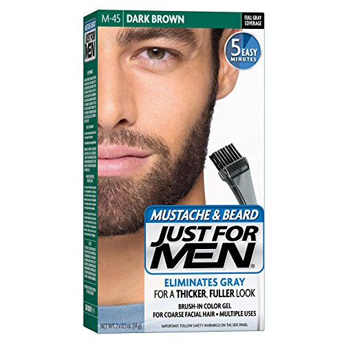 Just for Men Brush-In Color Gel for Mustache & Beard Dark Brown M-45 1 kit (P...
